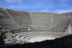 Pompei - Odeion (the little theater). The Odeion theater in Pompei Stock Photo