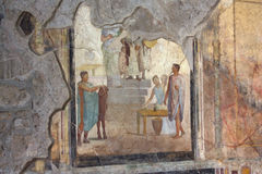 Pompei - Painting. Nice painting in an house in Pompei Royalty Free Stock Photography