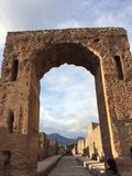 Pompei. I, arch, stones entrap Stock Photo