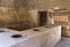 Pompei_Roman_Antiquites Royalty Free Stock Photo