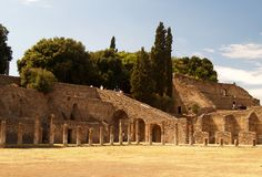 Pompei, rovine dal vulcano Fotografie Stock