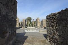 Pompei, ruïnes Stock Afbeeldingen