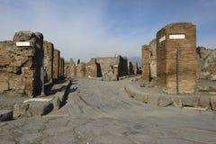 Pompei, ruïnes Stock Foto