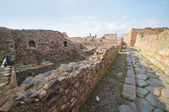 Pompei ruins. Stock Photo