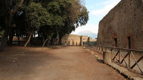 Pompei ruins path Royalty Free Stock Images