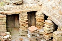 Pompei ruins stock photo