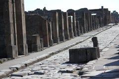 Pompei ruins street Stock Photos