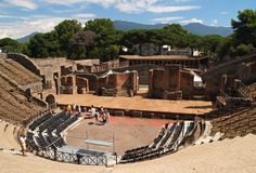 Pompei, ruins from the volcano royalty free stock image