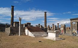 Pompei, ruins from the volcano Stock Photo