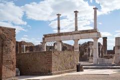 Pompei. Stadsvierkant Stock Fotografie