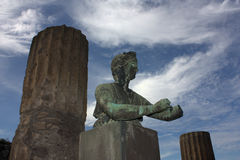Pompei - Statue in the Apollo temple Stock Photography