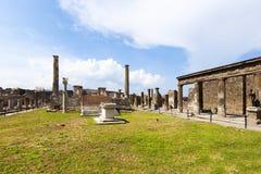 Pompei: Tempel van Apollo Royalty-vrije Stock Afbeeldingen