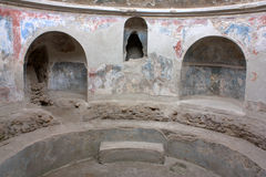 Pompei - Thermal bath. An example of the thermal bath in Pompei Royalty Free Stock Photography