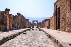 Pompei ulica Zdjęcia Royalty Free