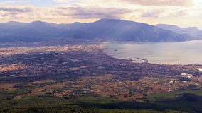 Pompei Valley, view from Mount Vesuvius. Italy. 4 Royalty Free Stock Image
