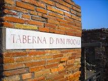 Pompeia, detalhe Foto de Stock
