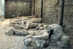 Pompeian挖掘 免版税库存照片