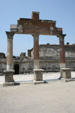 Pompeian colonnade. Pompeii (Naples - Italy) Royalty Free Stock Images
