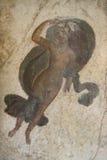 Pompeian fresco. Pompeii (Naples - Italy) Stock Photo