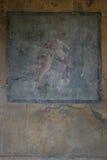 Pompeian fresco. Pompeii (Naples - Italy) royalty free stock photography