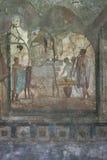 Pompeian fresco. Pompeii (Naples - Italy) Stock Images
