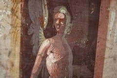 Pompeian fresco. Pompeii (Naples - Italy) Royalty Free Stock Images