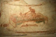 Pompeian fresco. Pompeii (Naples - Italy) Stock Photography