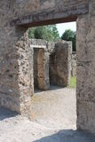 Pompeian house. Architecture of ancient rome found in the excavations of Pompeii site of so much tourism Stock Images