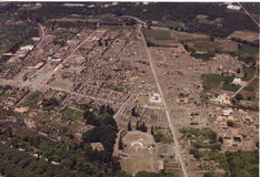 Pompeii. An aerial view of the ruins Royalty Free Stock Photography