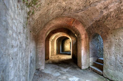 Pompeii. Tunnel under amphitheatre in Pompeii Scavi Royalty Free Stock Photos