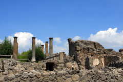 Pompeii. Ruins of Pompeii, buried Roman city near Naples, Italy Royalty Free Stock Photo