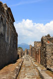 Pompeii. Road in Pompeii, buried Roman city near Naples, Italy Stock Image