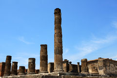 Pompeii. Ruins of Pompeii, buried Roman city near Naples, Italy Stock Photo