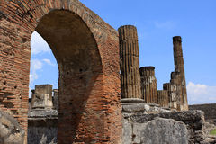 Pompeii. Ruins of Pompeii, buried Roman city near Naples, Italy Stock Image