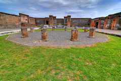 Pompeii. Some details of the excavations of Pompeii in HDR Royalty Free Stock Photography