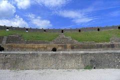 Pompeii amfiteatern Arkivfoton
