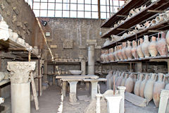 Pompeii ancient pottery Royalty Free Stock Photography