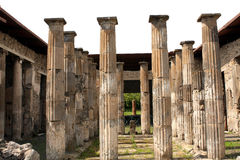Pompeii ancient Roman city columns Italy Royalty Free Stock Image