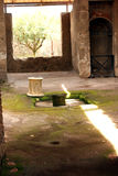 Pompeii ancient Roman city Entrance Italy Stock Photo