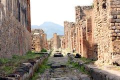 Pompeii ancient Roman city Italy Stock Image