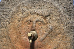 Pompeii ancient water tap Royalty Free Stock Photo