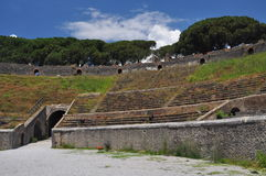 Pompeii archaeological site, Italy. the amphitheatre Stock Image