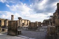 Pompeii, archeological site near Naples, Italy stock photos