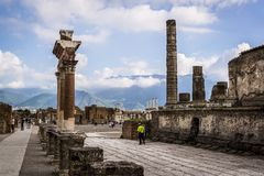 Pompeii, archeological site near Naples, Italy stock photography