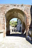 Pompeii. An archway in the ruined city of Pompeii Royalty Free Stock Photos
