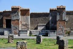 Pompeii arkeologisk plats, nr Mount Vesuvius, Italien Arkivfoto