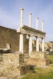 Pompeii Basilica Columns Royalty Free Stock Photo
