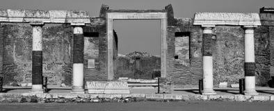 Pompeii Black and White Royalty Free Stock Photography
