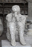 Pompeii body cast Royalty Free Stock Photo