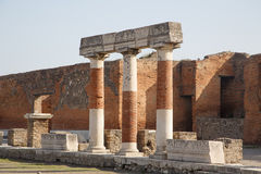 Pompeii Bricks and Columns Stock Photos